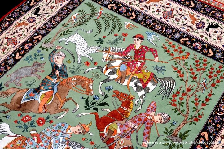 Las alfombras persas una historia de poder prestigio y for Alfombras persas historia